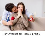 romantic concept with man... | Shutterstock . vector #551817553
