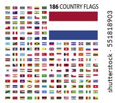 world country flags icon vector ... | Shutterstock .eps vector #551818903