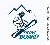snowboarding stylized symbol ... | Shutterstock .eps vector #551818963