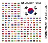 world country flags icon vector ... | Shutterstock .eps vector #551818987