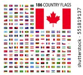 world country flags icon vector ... | Shutterstock .eps vector #551819137