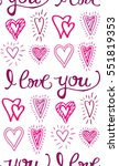 valentine's day pattern with... | Shutterstock .eps vector #551819353