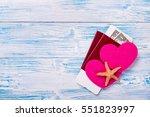 honeymoon in paradise | Shutterstock . vector #551823997