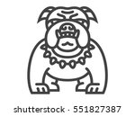bulldog icon   vector... | Shutterstock .eps vector #551827387