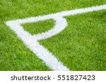 artificial turf of soccer... | Shutterstock . vector #551827423
