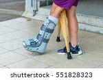 broken leg the splint for... | Shutterstock . vector #551828323