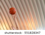 basketball going through the... | Shutterstock . vector #551828347