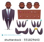 african american character for... | Shutterstock .eps vector #551829643