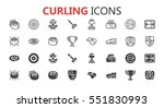 simple modern set of curling... | Shutterstock .eps vector #551830993