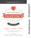 happy valentine's day party... | Shutterstock .eps vector #551832037