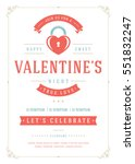 happy valentine's day party... | Shutterstock .eps vector #551832247