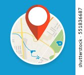 navigation geolocation icon.... | Shutterstock .eps vector #551836687