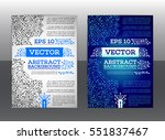 abstract technology brochure.... | Shutterstock .eps vector #551837467