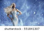 woman elegant fashion dress ... | Shutterstock . vector #551841307