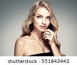 amazing woman portrait.... | Shutterstock . vector #551843443