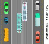 city traffic vector concept.... | Shutterstock .eps vector #551847547