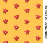 funny seamless pattern with... | Shutterstock .eps vector #551851507