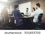 entrepreneurs and business... | Shutterstock . vector #551853703