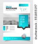 blue business brochure design.... | Shutterstock .eps vector #551855197