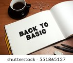 pen  coffee and blank paper... | Shutterstock . vector #551865127