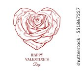 greeting valentin's day card.... | Shutterstock .eps vector #551867227