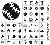 set of sports icons. contains... | Shutterstock .eps vector #551874097