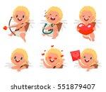 happy valentine's day. set  of... | Shutterstock .eps vector #551879407