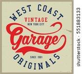 vintage biker graphics and... | Shutterstock .eps vector #551883133