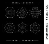 sacred geometry signs. set of... | Shutterstock .eps vector #551887423