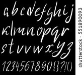 hand drawn font made by dry... | Shutterstock .eps vector #551890093
