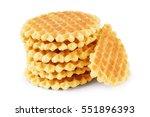 Belgian Sugar Waffles Isolated...