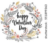 valentine s day callygraphic... | Shutterstock .eps vector #551899363