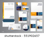 corporate identity template... | Shutterstock .eps vector #551902657