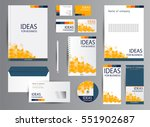 corporate identity template... | Shutterstock .eps vector #551902687