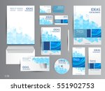 corporate identity template... | Shutterstock .eps vector #551902753
