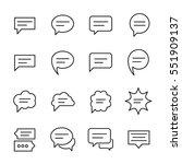 set of speech bubble in modern... | Shutterstock .eps vector #551909137