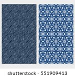 set of floral seamless pattern. ... | Shutterstock .eps vector #551909413