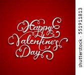 white lettering happy... | Shutterstock .eps vector #551911813
