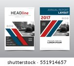 red and blue brochure design ... | Shutterstock .eps vector #551914657