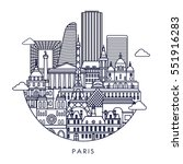 paris detailed skyline. vector...