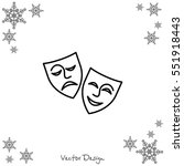 web icon. theater masks  comedy ... | Shutterstock .eps vector #551918443