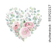 elegant valentines day heart of ... | Shutterstock . vector #551922217