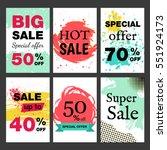 social media banners sale for... | Shutterstock .eps vector #551924173