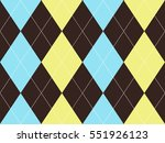 brown argyle seamless pattern.... | Shutterstock .eps vector #551926123
