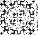 vector seamless pattern.... | Shutterstock .eps vector #551931487