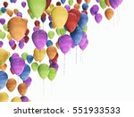 A Group Of Colorful Balloons...