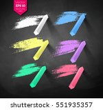vector collection of hand drawn ... | Shutterstock .eps vector #551935357