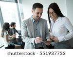 business accountants working... | Shutterstock . vector #551937733