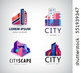 vector set of building logos ... | Shutterstock .eps vector #551939347