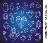 crystals  diamonds  gems and... | Shutterstock .eps vector #551939803
